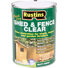 Rustins Quick Dry Shed Fence Clear Protector 5l