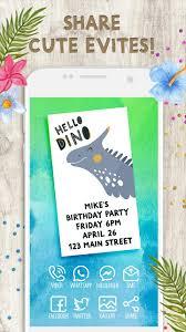Invitaciones De Cumpleanos Dinosaurios For Android Apk Download