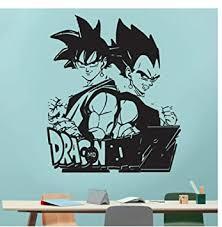 Amazon Com Goku Dragon Ball Z Decal Removable Wall Sticker Graphic Art House Decoration Vinyl Cartoon Decal For Kids Room Wallpaper 57x67cm Baby