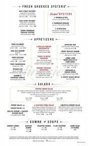 Pappas Seafood House Menu - Webster ...
