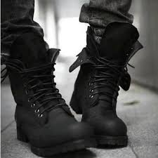 mens black leather lace up gothic punk