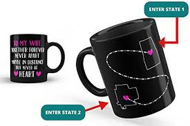 wife personalized mug long distance gift from husband gift love