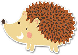 Amazon Com Ni3742 Pack Hedgehog Sticker Decal Premium Quality Vinyl Sticker 4 Inches By 3 Inches Automotive