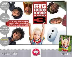 Big Hero 6 Invitation Big Hero 6 Invite Baymax Big Hero Etsy