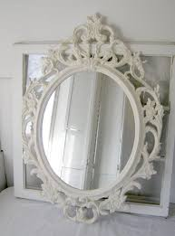 ornate baroque oval mirror antique