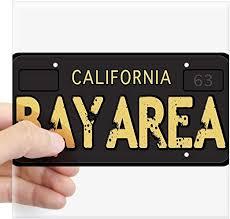 Amazon Com Cafepress Bay Area Calfornia Old License Sticker Square Bumper Sticker Car Decal 3 X3 Small Or 5 X5 Large Home Kitchen