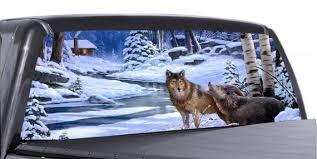 Wolves Winter Scene Universal Truck Rear Window 50 50 Etsy
