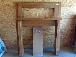 solid oak refurbished fireplace mantel