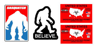 Bigfoot Yeti Sasquatch Vinyl Decal Sticker Pack Lot Of Four Stickers 4 Long For Sale Online