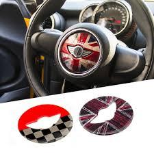 Union Jack Steering Wheel Center Sticker Decals Decoration For Bmw Mini Cooper Jcw F55 F56 Interior Car Styl Mini Cooper Steering Wheel Mini Cooper Accessories