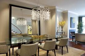 dining room design with mirror dining