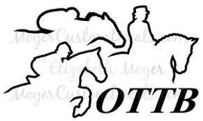 Ottb Off Track Thoroughbred Tb Horse 4 Decal Sticker U Choose Color Ebay