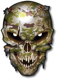 Amazon Com Camouflage Skull Decal Army Car Truck Military Pack Sticker Tgl Thin Green Line Army Marine Corps Navy Air Force Coast Guard Arts Crafts Sewing