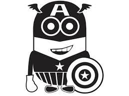 Captain America Minion Vinyl Decal Kid Ml5 3 Via Etsy Vinyl Decals Silhouette Clip Art Minions