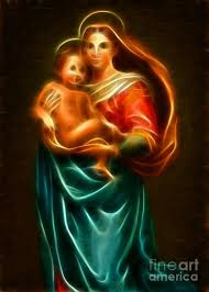 Virgin Mary And Baby Jesus (With images) | Virgin mary, Jesus, Johnson