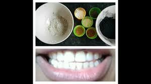 diy charcoal bentonite clay teeth