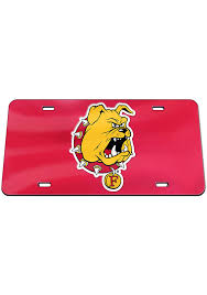 Ferris State Bulldogs Mascot Car Accessory License Plate 5718322