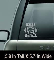 Ksu Football Silver Glitter Car Window Decal