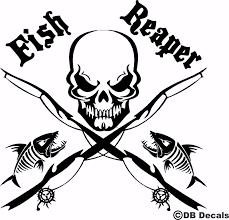 13 Fish Reaper Skull Fishing Rod Car Boat Water Truck Window Vinyl Decal Sticker Ebay Home Garden Fishing Decals Fish Vinyl Decals