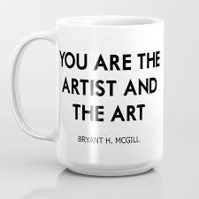 artist and the art coffee mug by marios