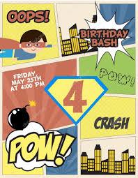 Superhero Party Card Stock Vector C Miobuono12 105758734