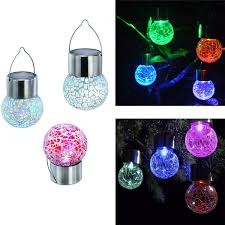 outdoor solar powered color changing