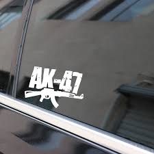 Ak 47 2 Vinyl Car Decal Red 10 By 10 Inches Itrainkids Com