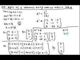 unknowns using inverse matrix method