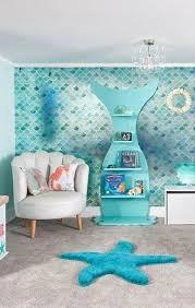 33 Whimsical Mermaid Bedroom Ideas For Girls In 2020 Mermaid Room Decor Beach Themed Bedroom Ocean Themed Bedroom