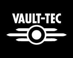 Fallout Vault Tec Logo Vinyl Sticker Decal White Gloss 11 4 X 6 Cm Ebay
