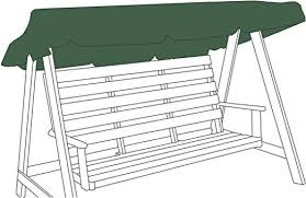 green 2 seater replacemnt canopy cover