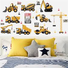 1pc Diy Transport Car Wall Sticker Mixer Truck Digger For Kids Room School Dormitory Room Decal Mural Home Decor Boys Gift Toy Wall Stickers Aliexpress
