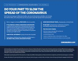 Coronavirus Guidelines: 15 Days to Slow ...