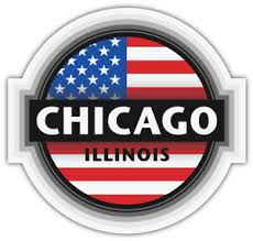 Chicago City Illinois Usa State Flag Emblem Car Bumper Sticker Decal Sizes Ebay