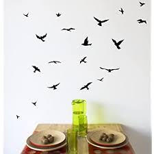 Amazon Com Arise Decals Flock Of Birds Wall Decal Sticker Home Kitchen