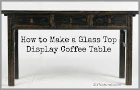 diy coffee table display ideas for