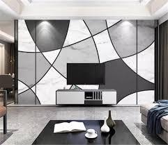 خلفيات بلاط الحديث بسيط أبيض وأسود خط الرخام محكم الجدار الطباعة الرقمية Hd ديكور خلفية جميلة 2020 من Yunlin188 38 43ر س موبايل Dhgate