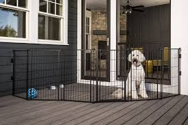 Carlson Pet Products 3 In 1 Extra Tall Weather Resistant Outdoor 144 Inch Wide Pet Gate Pen And Fence Bonus Includes Small Pet Door