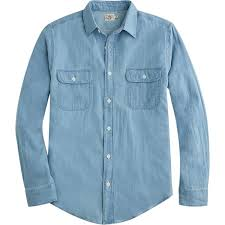 faherty brand penny workshirt in blue