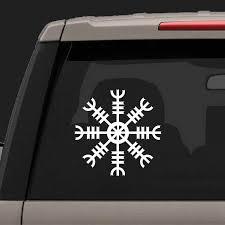 Helm Of Awe Norse Mythology Viking Vinyl Sticker Car Decor Pagan Asatru Laptop Decal For Apple Macbook Air Pro Decoration Wall Stickers Aliexpress
