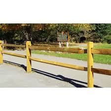 Unbranded 3 In X 4 In X 11 Ft Pressure Treated Pine Split Fence Rail Wvsr1012 The Home Depot