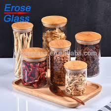 high borosilicate glass candy storage