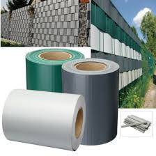 China Pure Color Ral 6005 Pvc Tarpaulin Rolls Stripe Screen Fence For Garden Privacy Protection China Pvc Tarpaulin Rolls And Pvc Stripe Screen Fence Price
