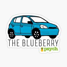 Psych The Blueberry Sticker By Mattnovelli Redbubble