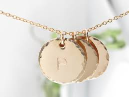 disc necklace by tickle bug jewelry