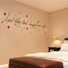 And They Lived Happily Ever After With Stars Love Wall Quotes Decals