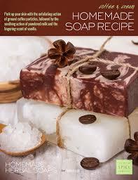 diy coffee and cream soap