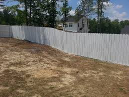 White Stained Cedar Fence