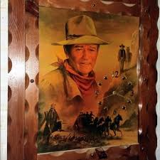 John Wayne Wall Art Vintage Rustic Wood Wall Clock Works Poshmark