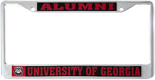Amazon Com Desert Cactus University Of Georgia Uga Bulldogs Ncaa Metal License Plate Frame For Front Or Back Of Car Officially Licensed Alumni Automotive